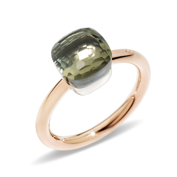 RING NUDO PETIT IN GOLD WITH PRESIOLITE
