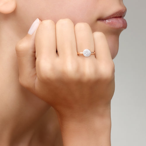 RING SABBIA SMALL IN GOLD WITH DIAMONDS