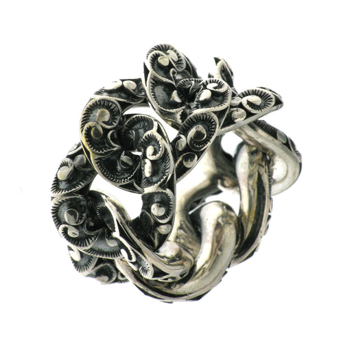 RING GROUMETTE IN STERLING SILVER