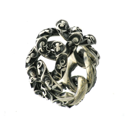 RING GROUMETTE SMALL IN STERLING SILVER