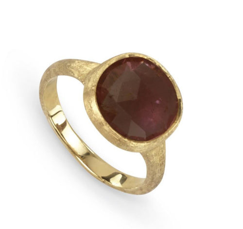 RING IN GOLD WITH PINK TOURMALINE