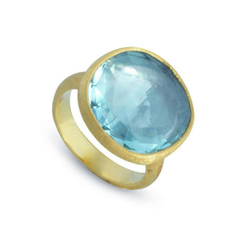 RING IN GOLD WITH BLUE TOPAZ