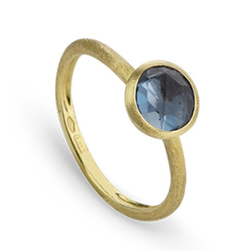 RING JAIPUR IN GOLD WITH LONDON BLUE TOPAZ