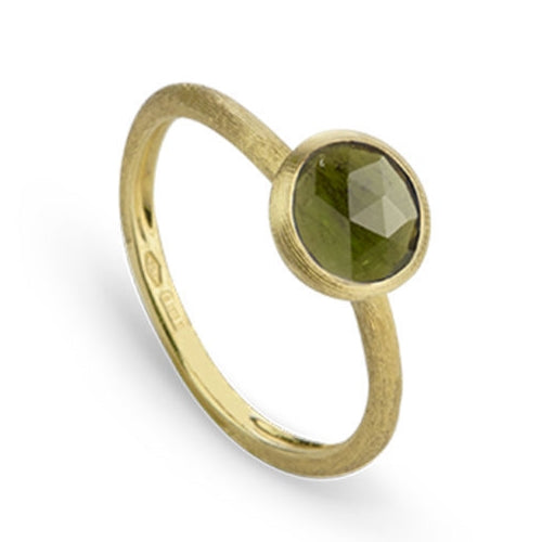 RING JAIPUR IN GOLD WITH GREEN TOURMALINE