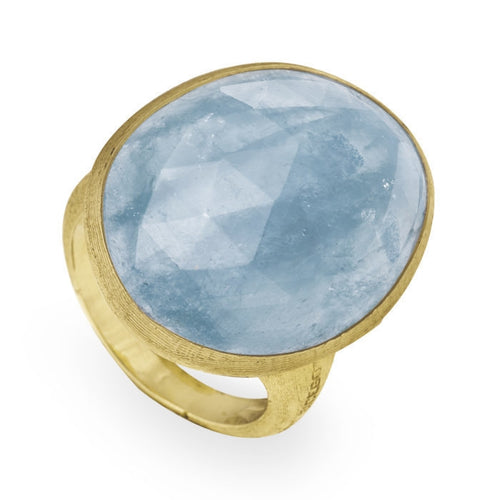 RING IN GOLD WITH AQUAMARINE