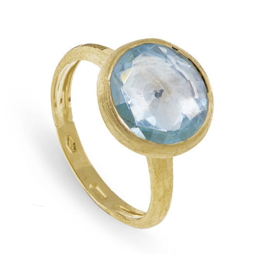 RING JAIPUR IN GOLD WITH BLUE TOPAZ