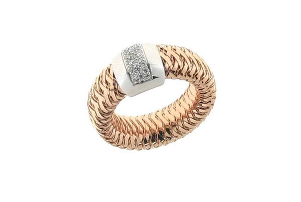 RING PRIMAVERA IN GOLD WITH DIAMONDS