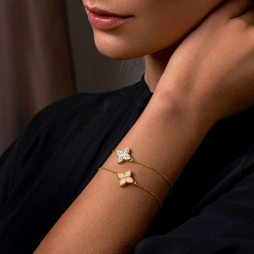 BRACELET PRINCESS FLOWER IN GOLD WITH DIAMONDS