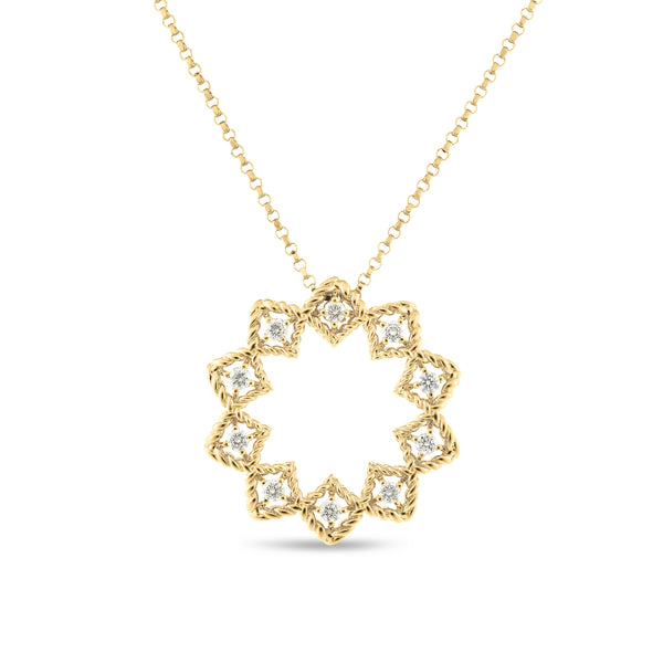 NECKLACE ROMAN BAROCCO IN GOLD WITH DIAMONDS