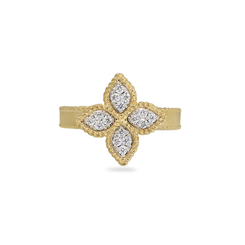 RING PRINCESS FLOWER IN GOLD WITH DIAMONDS