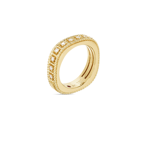 RING ROMAN BAROCCO IN GOLD WITH DIAMONDS