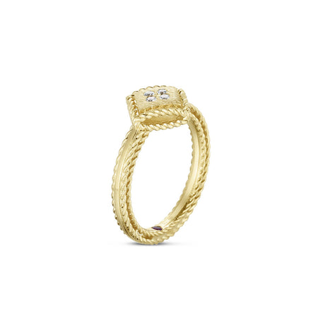 RING PRINCESS IN GOLD WITH DIAMONDS