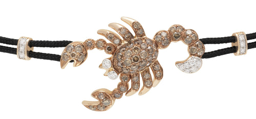 BRACELET WITH SCORPION IN GOLD AND DIAMONDS