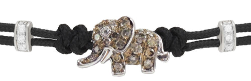 BRACELET WITH ELEPHANT IN GOLD AND DIAMONDS