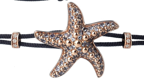 BRACELET WITH STARFISH IN GOLD AND BLUE SAPPHIRES