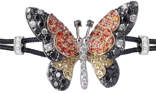 BRACELET WITH BUTTERFLY IN GOLD WITH SAPPHIRES AND DIAMONDS