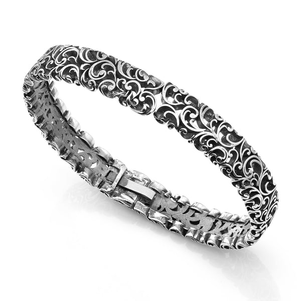 BANGLE IN STERLING SILVER ENGRAVED