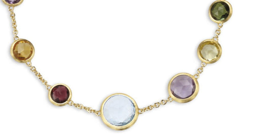 BRACELET JAIPUR IN GOLD WITH SEMIPRECIOUS STONES