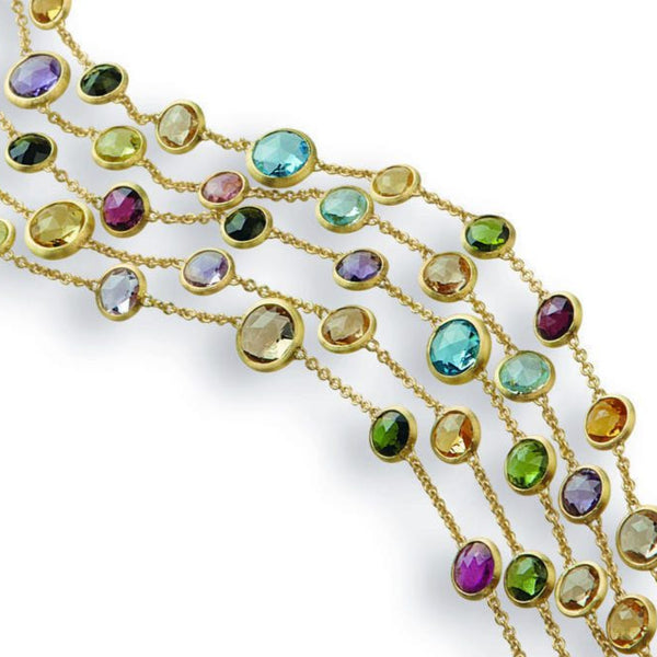 BRACELET IN GOLD WITH SEMIPRECIOUS STONES