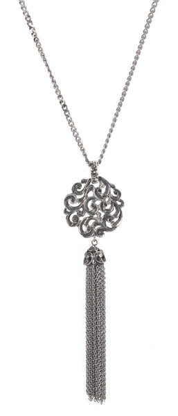 NECKLACE IN STERLING SILVER WITH TASSEL