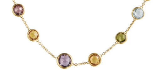 NECKLACE JAIPUR IN GOLD WITH SEMIPRECIOUS STONES
