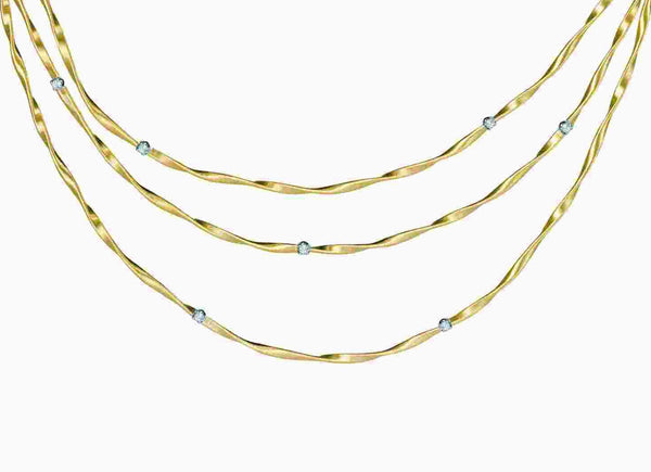 NECKLACE MINI MARRAKECH IN GOLD AND DIAMONDS