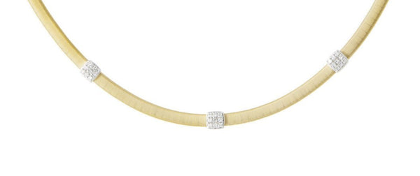 NECKLACE MASAI IN GOLD AND DIAMONDS