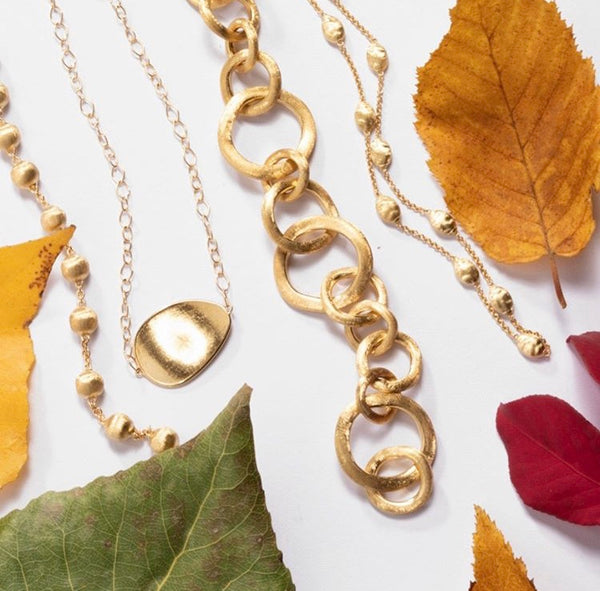 NECKLACE LUNARIA IN GOLD
