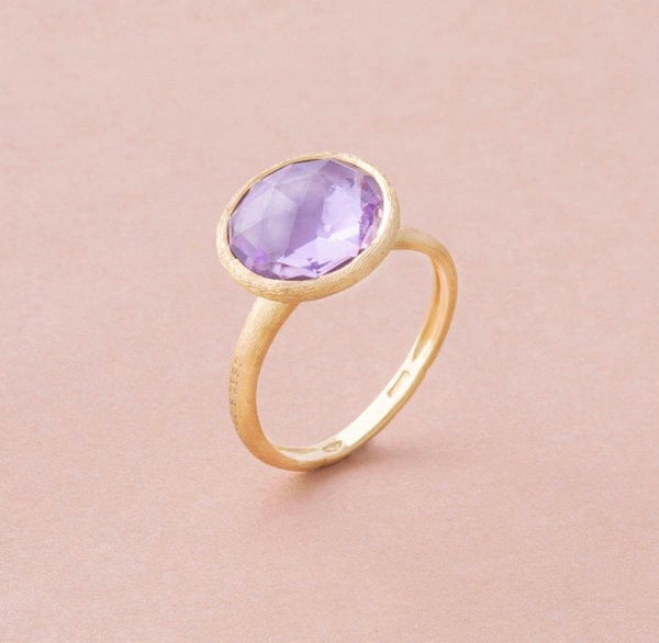 RING JAIPUR IN GOLD WITH AMETHYST
