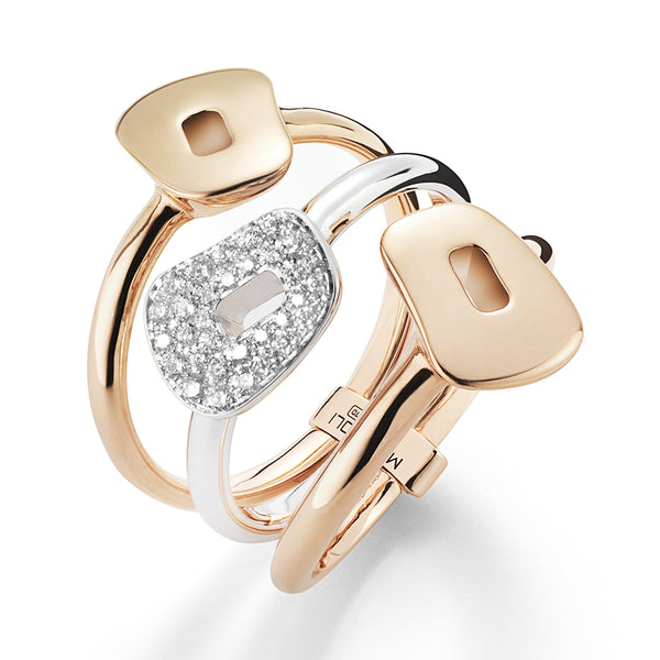 RING PUZZLE IN GOLD AND DIAMONDS