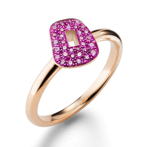 RING PUZZLE IN GOLD AND PINK SAPPHIRES