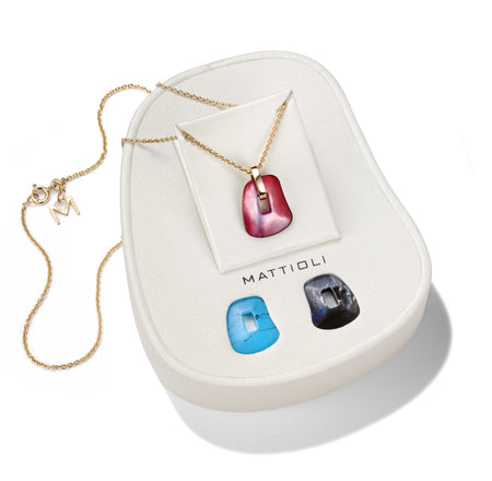 PENDANT SIRIANA IN GOLD WITH INTERCHANGEABLE STONES