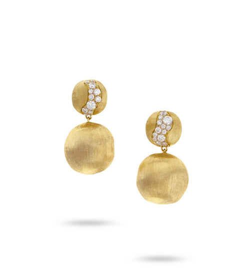 EARRINGS IN GOLD AND DIAMONDS