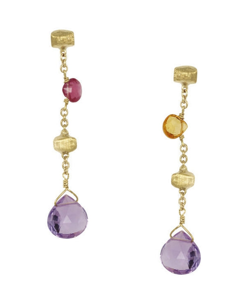 EARRINGS IN GOLD WITH SEMIPRECIOUS STONES
