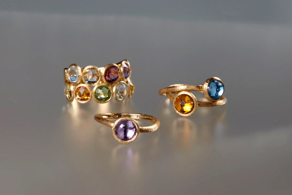RING JAIPUR IN GOLD WITH CITRINE