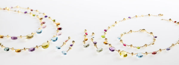 BRACELET PARADISE IN GOLD WITH SEMIPRECIOUS STONES