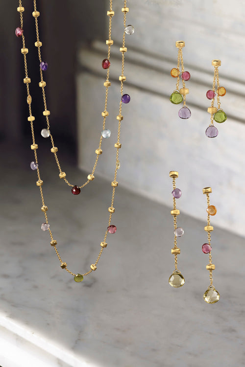 NECKLACE PARADISE IN GOLD WITH SEMIPRECIOUS STONES