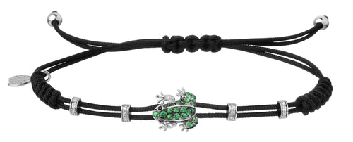 BRACELET WITH FROG IN GOLD AND TSAVORITES