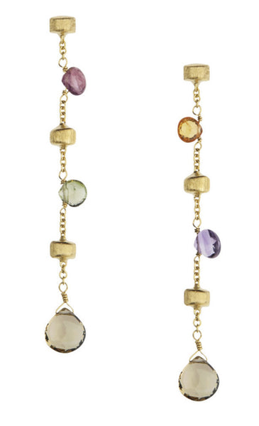 EARRINGS PARADISE IN GOLD WITH SEMIPRECIOUS STONES