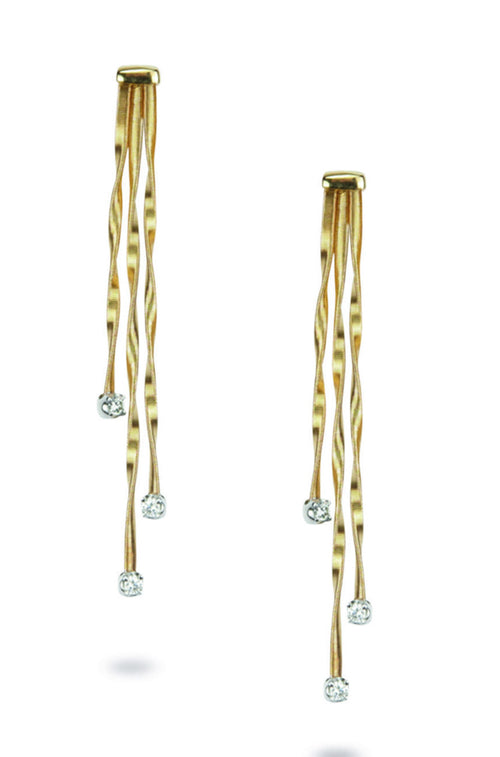 EARRINGS MINI MARRAKECH IN GOLD AND DIAMONDS