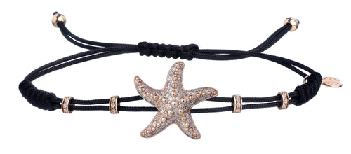 BRACELET WITH STARFISH IN GOLD AND DIAMONDS