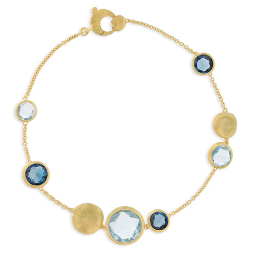 BRACELET JAIPUR IN GOLD WITH BLUE TOPAZ