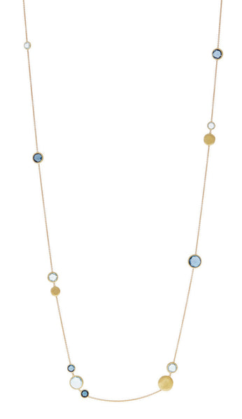 NECKLACE JAIPUR IN GOLD WITH BLUE TOPAZ