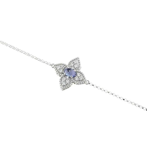 BRACELET PRINCESS FLOWER IN GOLD WITH TANZANITE AND DIAMONDS