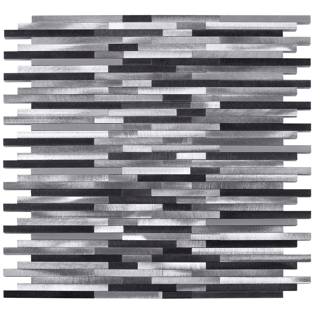 TAFDG-01 Slender Thin Line Grey Aluminum Mosaic tile Backsplash Wall Tile
