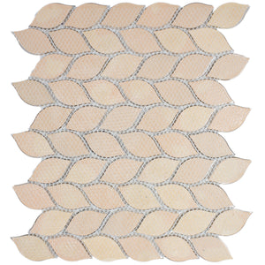 TAFDG-06 Aluminum silver and bronze leaf metal mosaic tile