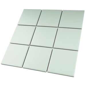 TPMG-10 4x4 Powder Green Porcelain Mosaic Tile (Matt)