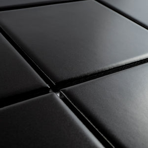 TPMG-14 4x4 Square Black Porcelain Mosaic Tile (matt)