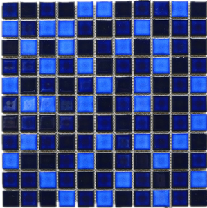 TPMG-20 1x1 Navy Blue Square Porcelain Mosaic Tile