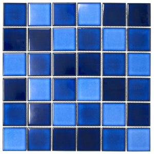 TPMG-22 2x2 Navy Blue Square Porcelain Mosaic Tile